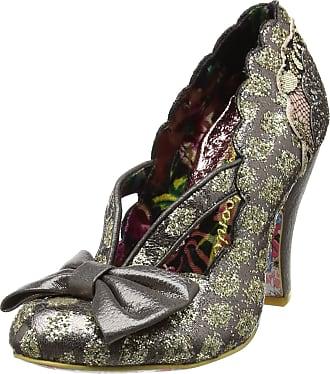 Irregular Choice Womens Curtain Call Closed-Toe Heels, Grey (Pewter Multi), 4 UK 37 EU