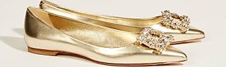 Roger Vivier Flats mit verzierter Schnalle Gold