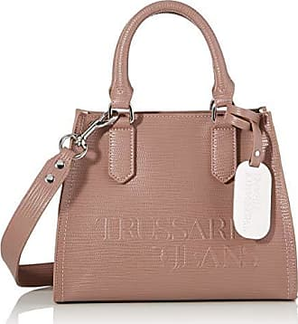 Trussardi Jeans t easy bauletto chram star logo, borsa a mano donna, rosa (metal pink), 25x19x15 cm (w x h x l)