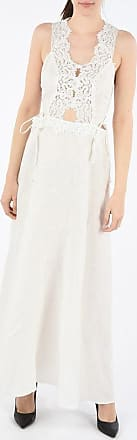 Ermanno Scervino LIFE flax Long Dress with Embroideries size 42