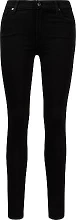 7 For All Mankind Jeans Skinny Slim Illusion Schwarz