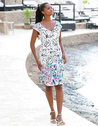 Alba Moda Strandkleid Alba Moda, Damen, mit Bindegürtel, weiß