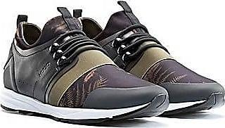HUGO BOSS Sneakers mit Camouflage-Muster und Lederbahnen