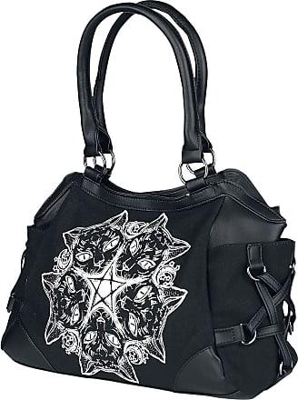 Banned Esoteric Cat Handbag Black