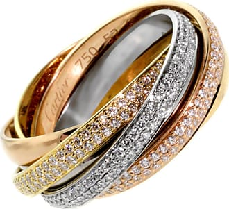 Cartier Trinity 6 Band Diamond Gold Ring