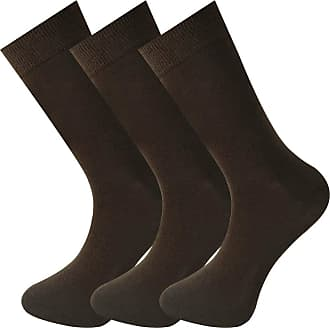 MySocks Unisex 3 Pairs Plain Ankle Socks Brown 7-11