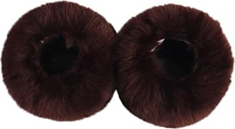 QUINTRA Women Windproof Plush Cuff Oversleeve Elastic Wrist Gloves Sleeve Wristband (Coffee)