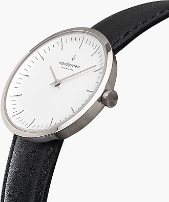 Nordgreen Infinity - Black Leather - Refurbished - 32mm / Silver