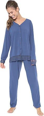 Pzama Pijama Pzama Gestante Liso Azul