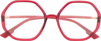 Dior Occhiali esagonali - Di colore rosso