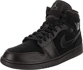 size 40 dd05c 173b9 Nike Nike Air Jordan 1 Mid, Scarpe da Basket Uomo, Nero (Black/