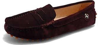 MGM-Joymod Ladies Womens Fashion Comfy Casual Slip-on Brown Suede Leather Walking Driving Loafers Flats Moccasins Hiking Shoes 6.5 M UK