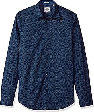 6bd2f7f2a4d22e Ben Sherman Mens Longsleeve OPTCHEQ Shirt, Navy Blazer, Large