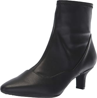Rockport Womens Kimly Stretch Bootie Ankle Boot, Black, 8 W US