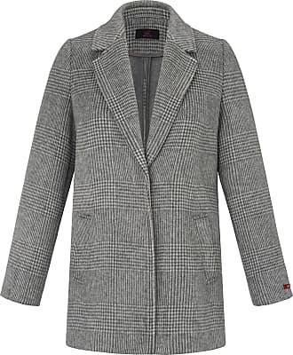Emilia Lay Short coat checked pattern Emilia Lay grey