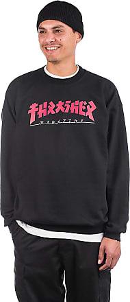 Thrasher Godzilla Crewneck Sweater black