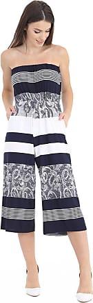 Momo & Ayat Fashions Ladies Lightweight Strapless Culotte Bandeau Short Cropped Jumpsuit Bardot Playsuit UK Size 8-26 (L/XL (UK 16-18), B&W Abstract)