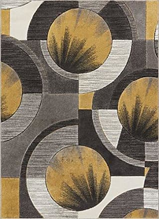 Well Woven 601015 Gold Yolo Modern Abstract Geometric 53 x 73 Area Rug