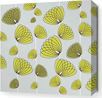 Inhabit Floating Lotus Canvas Wall Art Silver and Sunshine - FLOT_SLO_2434C
