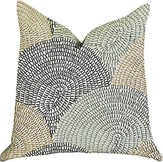 Plutus Brands Marquee Lagoon Double Sided Luxury Throw Pillow 24 x 24 Blue/Gold/Beige