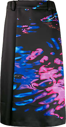 Fumito Ganryu Calça com estampa abstrata - Preto