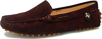 MGM-Joymod Womens Fashion Comfortable Brown Suede Moccasins Driving Walking Loafers Flats Slide Boat Shoes 6.5 M UK