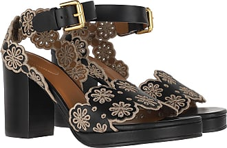 See By Chloé Sandals - Platform Sandals Leather Nero/Taupe - black - Sandals for ladies