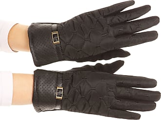 Sakkas GL171 - Emie Quilted and Lace Super Soft Warm Driving Gloves Touch Screen Capable - 17104-black - L/XL