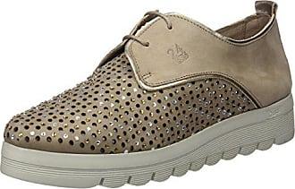 581d040e 24 Horas 23574, Zapatos de Cordones Oxford para Mujer, Beige (Taupe 10)