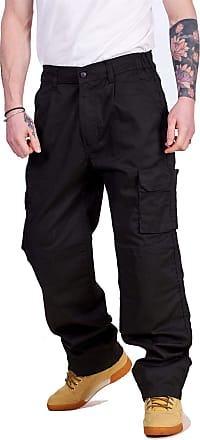 JD Williams Mens Cargo Work Trousers Button Zip Fly Black Navy Graphite Regular Pants 28-44