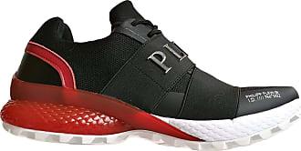 Philipp Plein Philips Plein F19SMSC2231PTE003N Mens Trainers Full Runner Black/Red Size: 8.5 UK