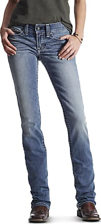 Ariat Womens R.E.A.L. Straight Leg Jeans in Rainstorm Cotton, Size 31 Short, by Ariat