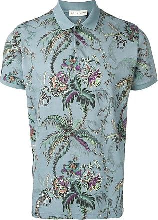 18fa29d4ab5cb Etro floral print polo shirt - Blue