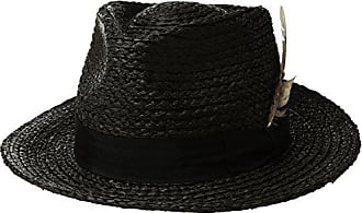 9c311e0c506 Brixton Mens Crosby Medium Brim Straw Fedora Hat