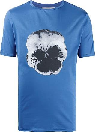 Frankie Morello Camiseta decote careca com estampa floral - Azul