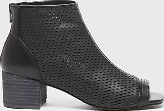 Kelsi Dagger Simone Boots Black Perforated Leather WomenS Bootie 5.5