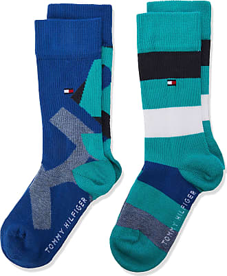 ecbc55e3a Tommy Hilfiger Boys Th Kids Rebel Sock 2p Calf, Multicolour (Aqua Green 044)