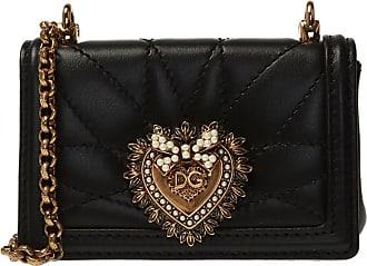 Dolce & Gabbana Devotion Shoulder Bag Womens Black