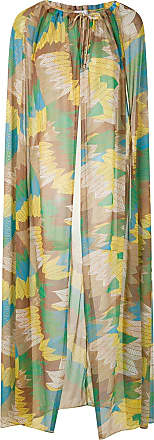 Amir Slama Semi-transparentes Cape-Kleid - Mehrfarbig