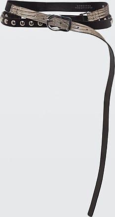 Dorothee Schumacher LUXURIOUS LIZARD Lizard Mix Belt 2,5cm 75