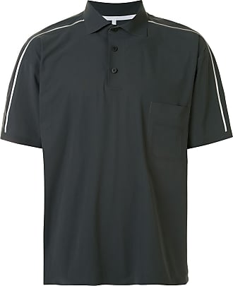 GR10K Camisa polo com listras nos ombros - Cinza