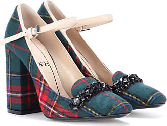 N°21 Embellished plaid pumps