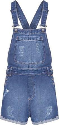 N.Y.B.D. Jardineira Jeans Escura N.y.b.d - Azul