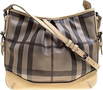 Burberry Beige Smoke Check Pvc And Leather Crossbody Bag 57b65fd6f3c9b