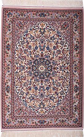 Nain Trading 105x71 Tappeto Isfahan Grigio Scuro/Rosso (Lana, Persia/Iran, Annodato a mano)
