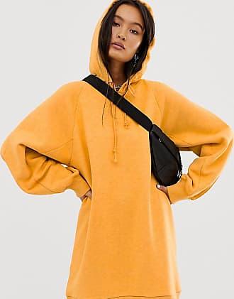 Collusion hoodie dress in orange - Orange