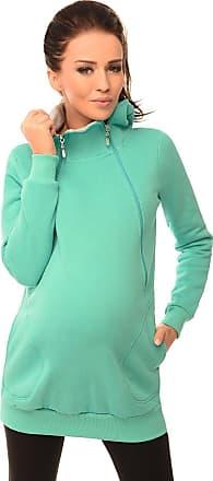 Purpless Maternity 2in1 Pregnancy and Nursing Sweatshirt Hoodie Hooded Top 9052 (8, Mint)