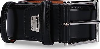 Santoni Men´s belt CM35V Calfskin Logo black