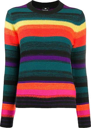 Paul Smith Suéter com listras arco-íris - Preto