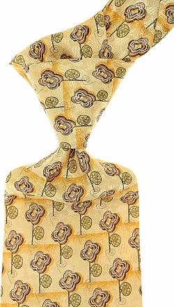 Ermenegildo Zegna Ties On Sale, Pale Yellow, Silk, 2017, one size